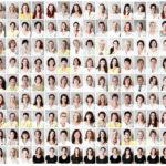 """126 Mitarbeiterinnen und Mitarbeiter des Mode-Filialisten """"Kaufstrasse""""  galt es für die Unternehmens-Website zu porträtieren. Die service-orientierte und kundenfreundliche Ausrichtung des engagierten Familienunternehmens wurde durch eine durchgehende Linie von  hellen, freundlichen Porträts in weißer bzw. gelber Farbe (Gelb ist die Logo-Farbe des Unternehmens)  dargestellt. Die Mitarbeiterinnen der Palmers-Franchise-Stores trugen ihre schwarzen Tops."""